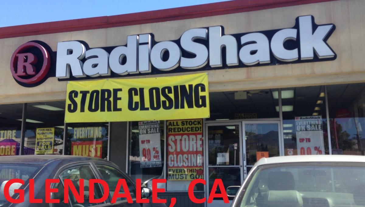 Radio Shack Retail Store Closing Glendale, Ca